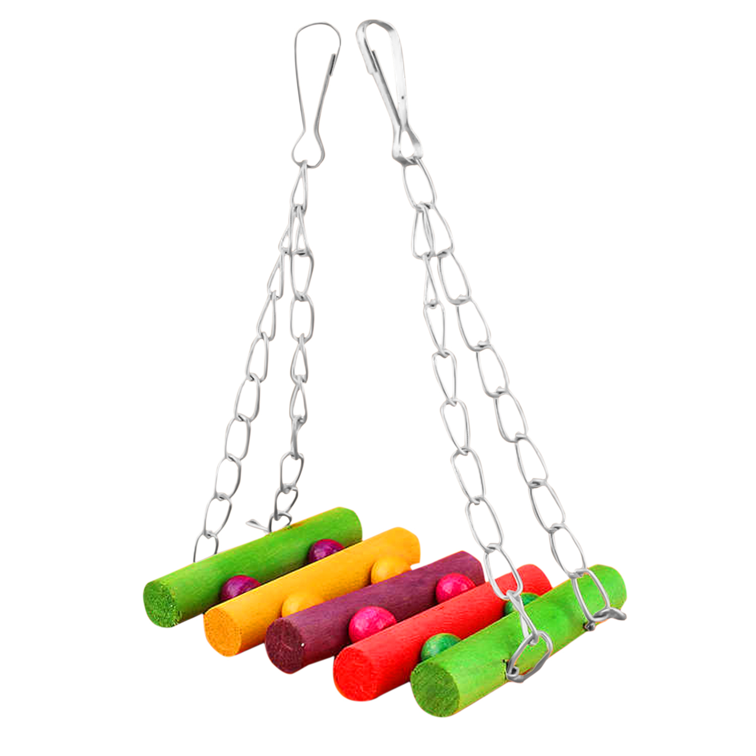 Flexible Colorful Cage Hammock Swing Toy Hanging Toy for Pet Bird Parrot Parakeet Hamster Parakeet Budgie Cockatiel