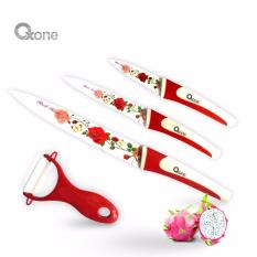 Flower Knife Set Oxone OX-607 Red