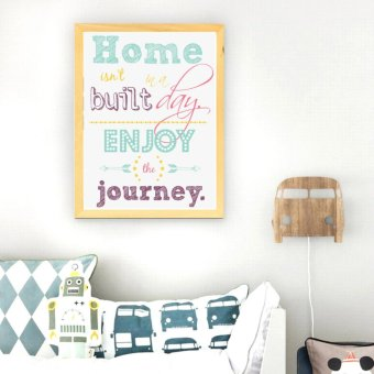 Frame Motivasi Home Isn't In A Built Day (A-38)