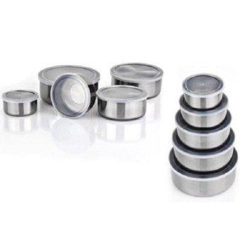 Harga Fresh Box Rantang Susun 5 pcs + Tutup Kedap Udara - Tempat MakananStainless Steel