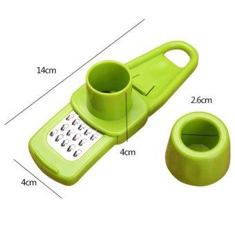 Gadget Dapur Rumah Tangga Penggiling Tumbuk Bawang Putih TekanKreatif Multifungsi Memotong Bawang Putih Jahe Peralatan RumahTangga Hijau - 3