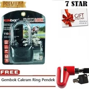 Gembok Kinbar LR-44 7STAR Anti Maling Gembok Alarm RING PANJANG ORIGINAL 100% Suara