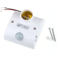 Gerak Inframerah PIR Sensor Lampu LED Lampu Otomatis E27 Holder Switch-Intl