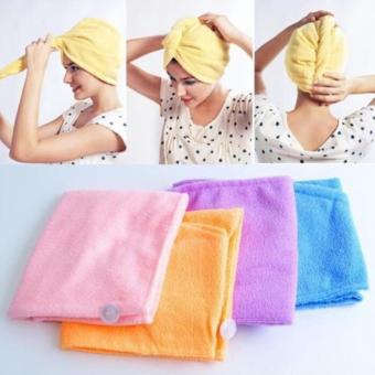 harga Glow shop - magic towel hair wrap handuk keramas pengering rambut Lazada.co.id