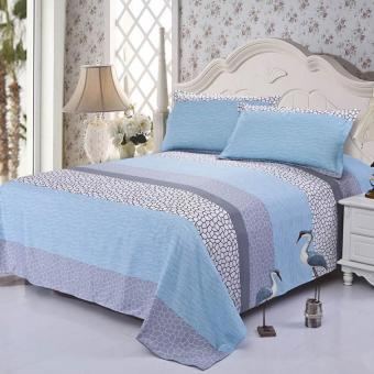Harga GoGoLife Cotton Bed Protector Bedsheet Bedspreads-36# Water Blue