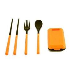 Travel Cuttlery Peralatan Makan 1 Set 3pcs Purple Set Fungsi Sendok Source · Cutlery Sendok Garpu Sumpit Set Travel BiruIDR12400 Rp 12 400