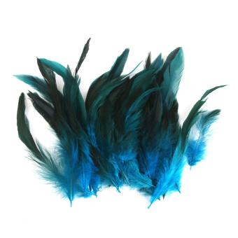Grosir 50 Cantik Bulu Ayam 12-18 cm/4-7 Inci Biru Tua