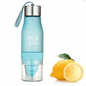 BELI SEKARANG H2O Infusing Water Bottle Botol Minum Infus Portable Bahan stainless Steel Silicon Plastik Aman 650 mL - Biru Klik di sini !!!