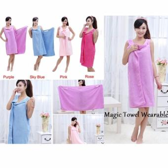 Handuk Multi Fungsi Magic Towel wearable towel Handuk mandi Sexy(Pink)