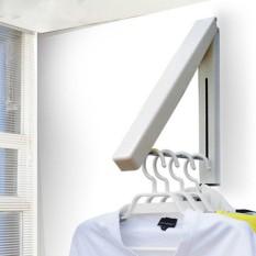 Hanger Gantungan Baju Tempel Lipat Multifungsi