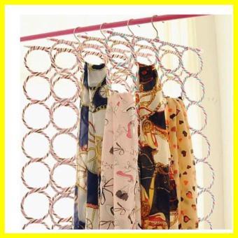 ... Hanger Jilbab Ring Bulat 28 Lubang Gantung Origami Z0054A - 3