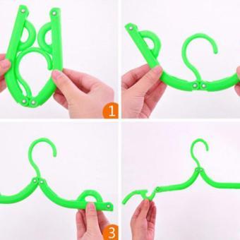Hanger Lipat Portable Gantungan Jemuran Baju Travel Foldable - 2