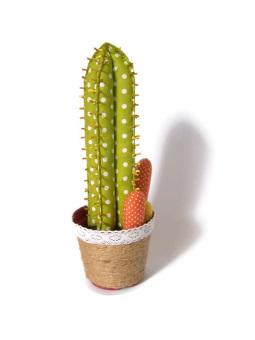 Happy Pelangi Craft Tanaman Kaktus Katun Ruas Polkadot Hijau