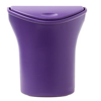 HengSong tempat sampah mobil tempat sampah tong sampah kotakpenyimpanan ungu - International