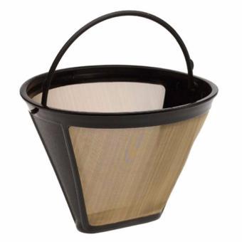 Hequ berguna bisa penyaring kopi 10 12 Cup permanen model kerucutjala emas mesin pembuat kopi saring