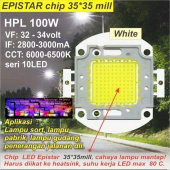 High Power LED Integrated HPL 100 Watt EPISTAR Putih 6500K ForLampu Sorot