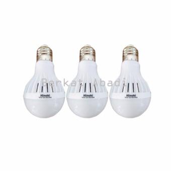 Hinoki Lampu Bholam LED 7 watt 3 pcs