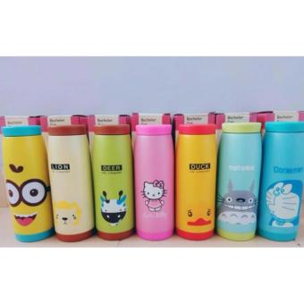 HOKI COD - Botol Minum Termos Karakter Animal Stainless Steel 500 ML BACHELOR - Multi Colour