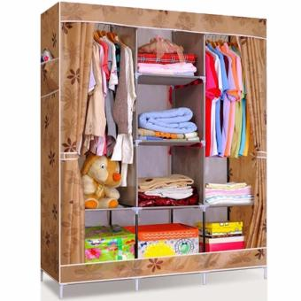 Home-Klik Lemari Baju / Rak Pakaian / Wardrobe Motif Jumbo Size 130x 45 x