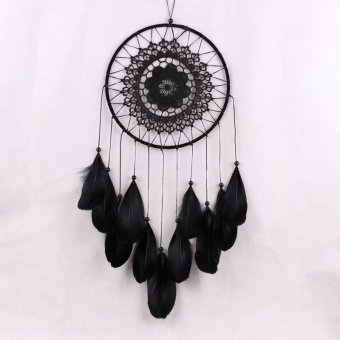 Hot Decoration Crafts Dreamcatcher Wind Chimes Handmade DreamCatcher with Feathers Wall Hanging-White - intl