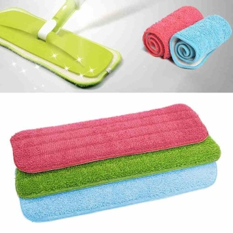 Household mop cleaning pad Dust Cleaning Reusable Microfiber PadFor Spray Mop - intl