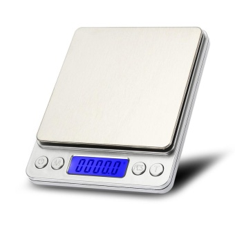 I2000 3kg 0.1g Mini Digital Scale Stainless Steel Platform WeighingTool With Tray - intl