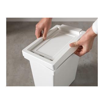 Ikea Filur Tempat Sampah Dengan Tutup - Putih - 3
