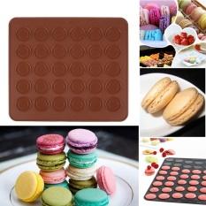 IKLAN Praktis Berkualitas Tinggi Hot Jual Silicone Macaron Muffin Pastry Kue Oven Baking Mould Sheet Mat DIY 30-Cavity- INTL