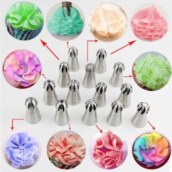 Hottest 1pc Bakeware Sphere Ball Shape Cream Stainless Steel Icing Piping Nozzles Pastry Tips Cupcake Buttercream