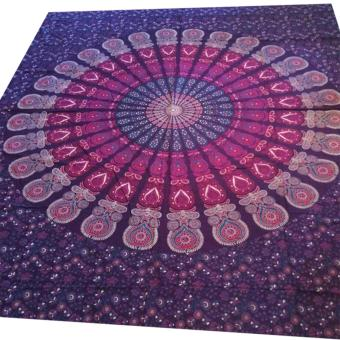 Indian Mandala Tapestry Wall Hanging Multifunctional Tapestry Boho Printed Bedspread Cover Yoga Mat 150*150cm