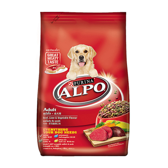 Harga Alpo Adult Beef, Liver & Vegetables - 1.5Kg