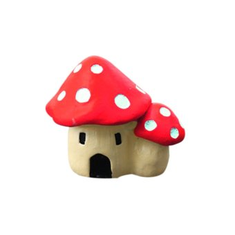 Harga Mushroom House Garden Ornament Resin Figurine Decor Red (Intl)