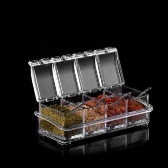 Harga Seasoning Set Kitchen Condiment Box 4Piece/Set