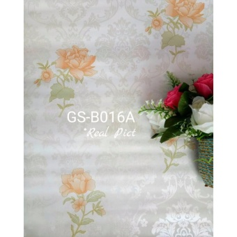 Harga Wallpaper Shabby Rose Orange