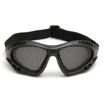 Harga TRIXES Tactical SWAT Airsoft Eye Protection Goggles No Fog Metal Mesh Glasses MH Black