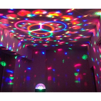Harga Lampu tidur kamar disco portable / Lampu kelap kelip disco LED Magic Ball Light