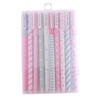Harga Hanyu 10 Pcs/Package Stationery Floral Point Gel pen