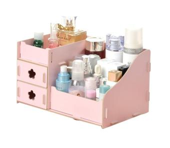 Harga EZY Candy Colored DIY Wooden Organizer Drawer - Pink