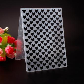 Simple Design Lovely Heart Pattern Plastic Embossing Folders for DIY Card Making Decoration Supplies