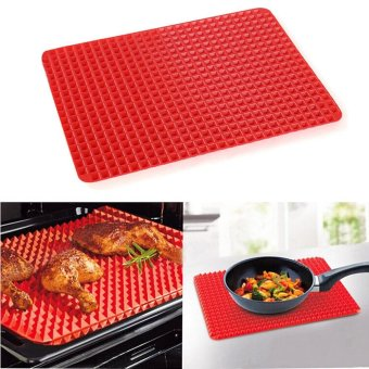 Harga Erpstore Pyramid Pan Non Stick Fat Reducing Silicone Cooking Mat Oven Baking Tray Sheets - intl