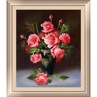 Cocotina 5D DIY berlian lukisan mawar bunga-bunga salib Stitch bordir Dekorasi Rumah Hadiah -