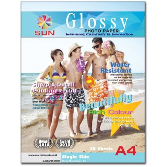 Harga Kertas Foto - SUN Glossy Photo Paper A4 Single Side 260 Gsm - Next Generation Photo Paper