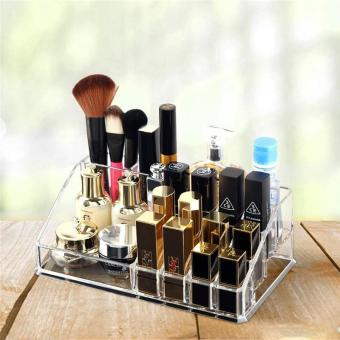 Harga Creative Transparent Acrylic Lipstick Box Cosmetic Storage Box Velcro Lipstick and Other Storage Box - intl