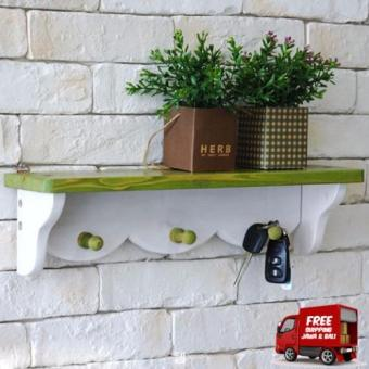 Harga the olive house rak gantungan white green