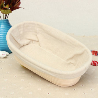 Harga 10inch/25cm Oval Brotform Banneton Bread Proving Proofing Basket - Intl