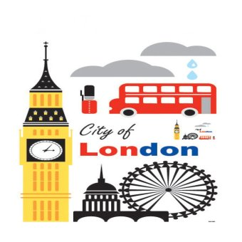 Harga Wall Sticker SAN London CIty / Stiker Dinding