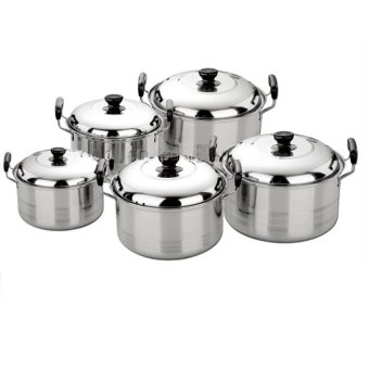 Harga Gloryshop Panci Set Exclusive 5 Pcs New Dutch Oven - 5 Pcs - Stainless
