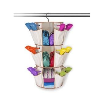 AIUEO Smart Carousel Rak Sepatu Gantung - 3 Shelves
