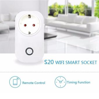 Harga Sonoff Itead S20 Wireless 2/3/4G WiFi Smart Timer APP Remote Control Power Switch Socket UK Plug - intl