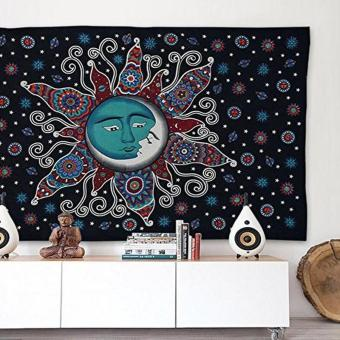 Harga Polyester Wall Tapestry Hippie Tapestries Wall Hanging Washable Beach Towel Women Shawl Yoga Mat Blanket